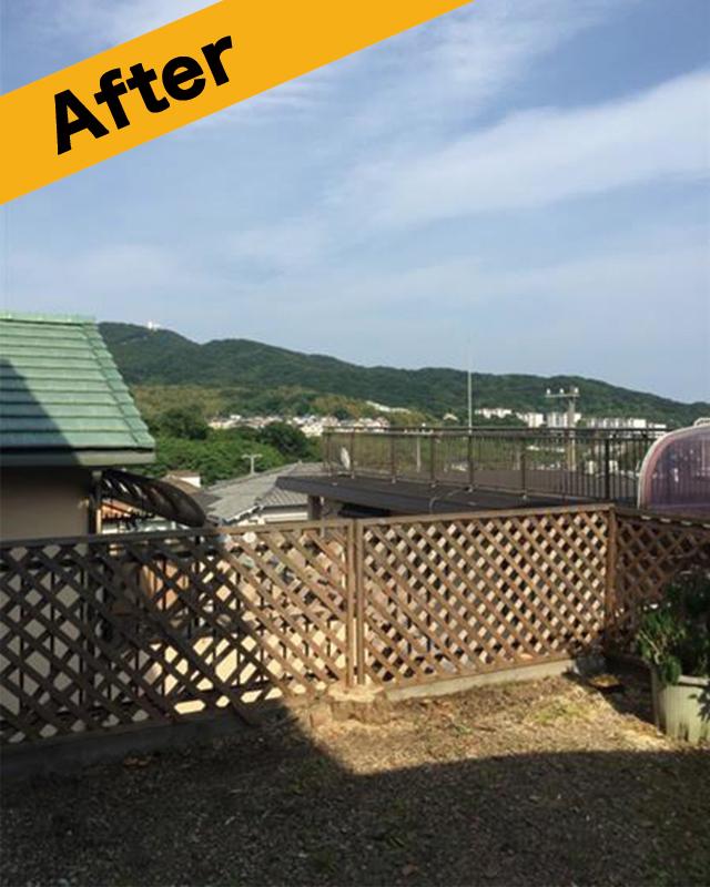 高知市の庭木伐採抜根-施工後写真