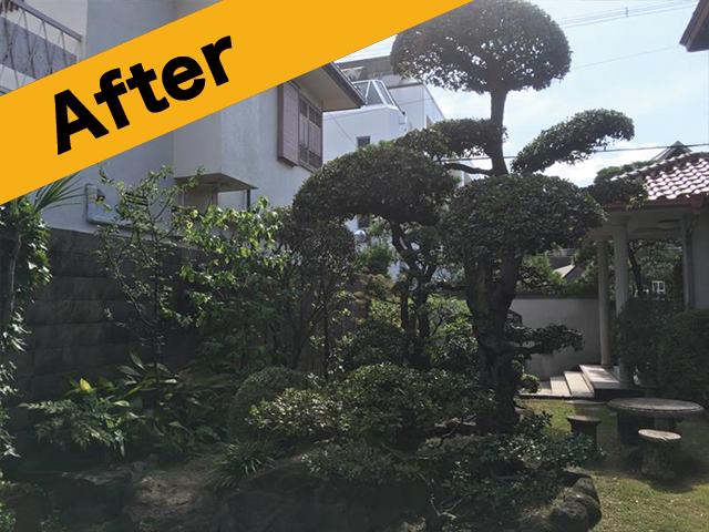 鳥取県大山町で庭手入れ後